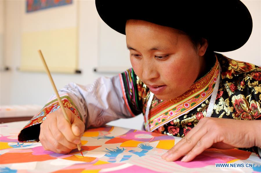 'Shuicheng villager painting' created by Miao ethnic group